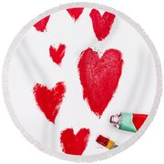 The Heart Of Love Round Beach Towel