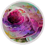 The Heart Of Nature Round Beach Towel