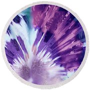 The Heart Of Passion Round Beach Towel