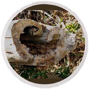 The Heart Of The Tree Round Beach Towel