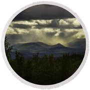 The Heavens And The Earth Round Beach Towel