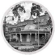 The Henry B. Plant Museum Bw Round Beach Towel
