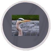 The Heron Round Beach Towel