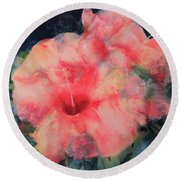 The Hibiscus Round Beach Towel