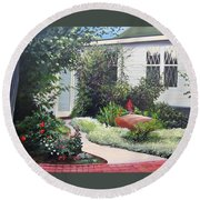 The Hidden Garden Round Beach Towel