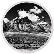The High Andes Monochrome Round Beach Towel