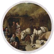 The Highland Game Keeper Round Beach Towel