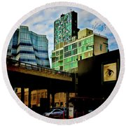 The Highline Nyc Round Beach Towel