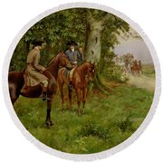 The Highwaymen Round Beach Towel