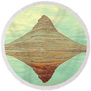 The Hill In The Middle Of Nowhere Round Beach Towel