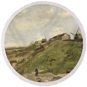 The Hill Of Montmartre With Stone Quarry 2 Round Beach Towel