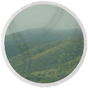The Hills In Southern California Round Beach Towel