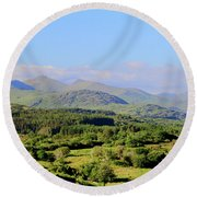 The Hills Of Southern Ireland Round Beach Towel