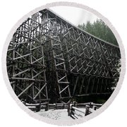 The Historic Kinsol Trestle 3. Round Beach Towel