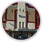 The Historic Texas Theatre Round Beach Towel
