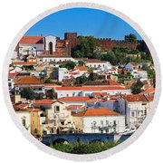 The Historic Town Of Silves In Portugal Round Beach Towel
