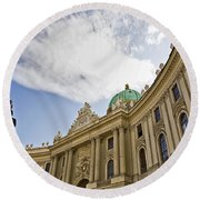 The Hofberg In Vienna Round Beach Towel