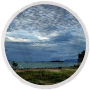 The Hole In The Sky Round Beach Towel