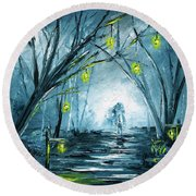 The Hollow Road Round Beach Towel