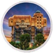 The Hollywood Tower Hotel Disneyland Round Beach Towel