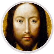 The Holy Face Round Beach Towel by Flemish School
