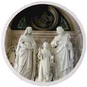 The Holy Family Round Beach Towel