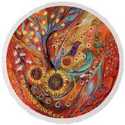 The Holy Land Autumn Round Beach Towel