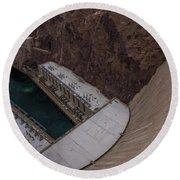 The Hoover Dam Round Beach Towel