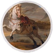 The Horse And The Snake Round Beach Towel