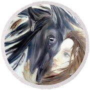 The Horse Round Beach Towel