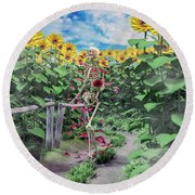 The Horticulturist Round Beach Towel