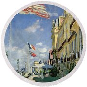 The Hotel Des Roches Noires At Trouville Round Beach Towel