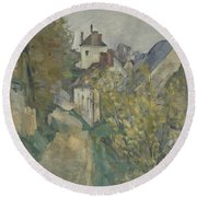 The House Of Dr Gachet In Auvers Sur Oise Round Beach Towel
