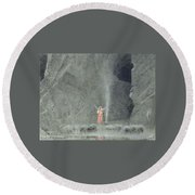 the house of the Chambers of Death Round Beach Towel