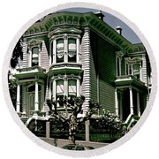The House On The Hill Round Beach Towel