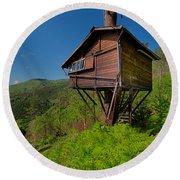 The House On The Tree - La Casa Sull'albero Round Beach Towel