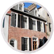 The Houses Of Charleston Round Beach Towel