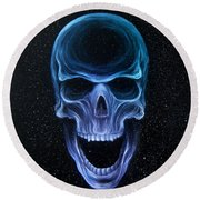 The Howling Void Round Beach Towel
