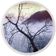 The Hudson Highlands Round Beach Towel