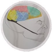 The Human Mind  Round Beach Towel