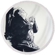 The Hunchback Of Notre Dame Round Beach Towel