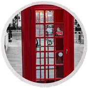 The Iconic London Phonebox Round Beach Towel