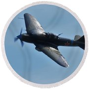 The Ilyushin Il-2 In Flight Round Beach Towel