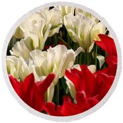 The Image Of A Tulip Round Beach Towel