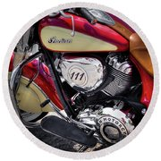 The Indian Chief Round Beach Towel