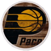 The Indiana Pacers 3b Round Beach Towel