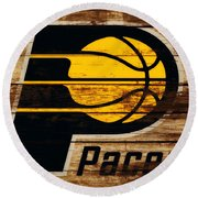 The Indiana Pacers 3c Round Beach Towel