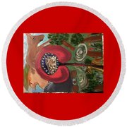 The Indigenous Emerging  Round Beach Towel