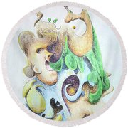 The Infection Round Beach Towel