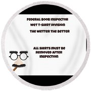 The Inspector  Round Beach Towel